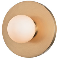 Taft LED Aged Brass ADA Wall Sconce Wall Light, Opal Matte