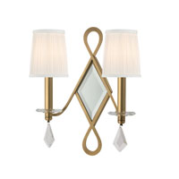 Hudson Valley Lighting Cambria 2 Light Wall Sconce in Aged Brass 702-AGB