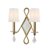 Cambria 2 Light 14 inch Aged Brass Wall Sconce Wall Light