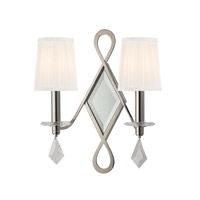 Hudson Valley Lighting Cambria 2 Light Wall Sconce in Polished Nickel 702-PN