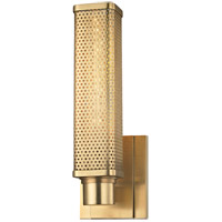 Hudson Valley Gibbs 1 Light Wall Sconce in Aged Brass 7031-AGB