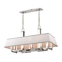 Kingston 12 Light 38 inch Polished Nickel Island Ceiling Light
