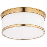 Hudson Valley Lighting Geneva 1 Light Flush Mount in Aged Brass 709-AGB