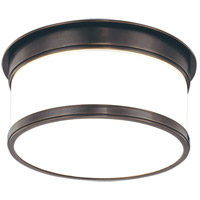 Geneva 1 Light 9 inch Old Bronze Flush Mount Ceiling Light
