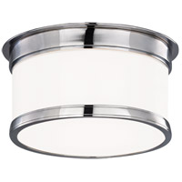 Geneva 1 Light 9 inch Polished Chrome Flush Mount Ceiling Light