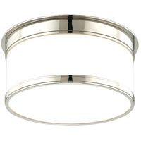 Geneva 1 Light 9 inch Polished Nickel Flush Mount Ceiling Light