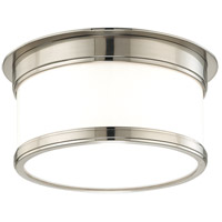 Geneva 1 Light 9 inch Satin Nickel Flush Mount Ceiling Light