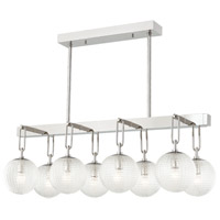 Hudson Valley 7108-PN Jewett 8 Light 20 inch Polished Nickel Linear Pendant Ceiling Light