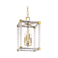 Alpine 4 Light 14 inch Aged Brass Pendant Ceiling Light