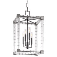 Alpine 4 Light 14 inch Polished Nickel Pendant Ceiling Light