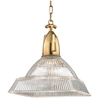 Hudson Valley 7114-AGB Langdon 1 Light 14 inch Aged Brass Pendant Ceiling Light