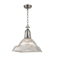 Hudson Valley 7114-HN Langdon 1 Light 14 inch Historic Nickel Pendant Ceiling Light