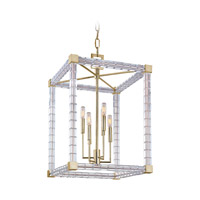 Alpine 6 Light 19 inch Aged Brass Chandelier Ceiling Light