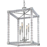 Alpine 6 Light 19 inch Polished Nickel Chandelier Ceiling Light