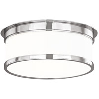 Geneva 2 Light 12 inch Polished Nickel Flush Mount Ceiling Light