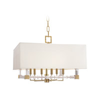 Hudson Valley Lighting Alpine 6 Light Chandelier in Aged Brass 7126-AGB