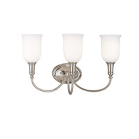 Hudson Valley Lighting Huntington 3 Light Bath And Vanity in Polished Nickel 7143-PN