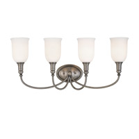 Hudson Valley Lighting Huntington 4 Light Bath And Vanity in Antique Nickel 7144-AN