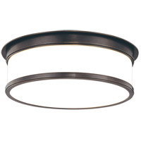 Geneva 3 Light 15 inch Old Bronze Flush Mount Ceiling Light
