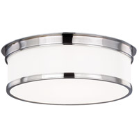 Geneva 3 Light 15 inch Polished Chrome Flush Mount Ceiling Light