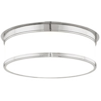 Geneva 3 Light 15 inch Satin Nickel Flush Mount Ceiling Light