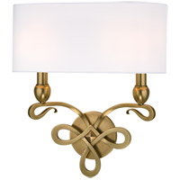 Hudson Valley Lighting Pawling 2 Light Wall Sconce in Aged Brass 7212-AGB