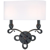 Pawling 2 Light 14 inch Old Bronze Wall Sconce Wall Light