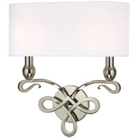 Hudson Valley Lighting Pawling 2 Light Wall Sconce in Polished Nickel 7212-PN