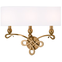 Pawling 3 Light 20 inch Aged Brass Wall Sconce Wall Light