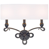 Pawling 3 Light 20 inch Old Bronze Wall Sconce Wall Light