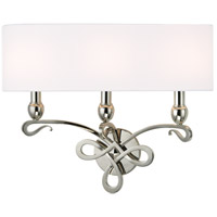 Hudson Valley Lighting Pawling 3 Light Wall Sconce in Polished Nickel 7213-PN