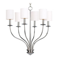 Hudson Valley Lighting Sheffield 6 Light Chandelier in Polished Nickel 7216-PN