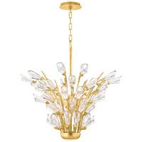 Hudson Valley 7221-GL Tulip 5 Light 21 inch Gold Leaf Chandelier Ceiling Light