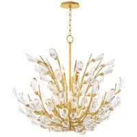Hudson Valley 7240-GL Tulip 9 Light 40 inch Gold Leaf Chandelier Ceiling Light