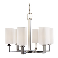 Baldwin 6 Light 27 inch Polished Nickel Chandelier Ceiling Light