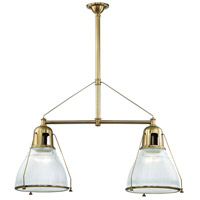 Haverhill 2 Light 44 inch Aged Brass Island Ceiling Light