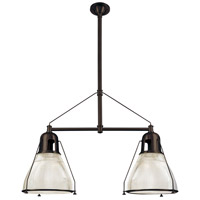 Hudson Valley 7312-OB Haverhill 2 Light 44 inch Old Bronze Island Light Ceiling Light