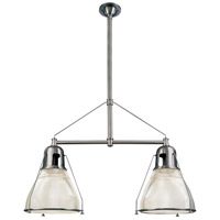 Hudson Valley 7312-PN Haverhill 2 Light 44 inch Polished Nickel Island Light Ceiling Light