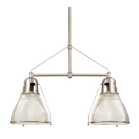 Hudson Valley 7312-SN Haverhill 2 Light 44 inch Satin Nickel Island Light Ceiling Light