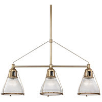 Hudson Valley 7313-AGB Haverhill 3 Light 48 inch Aged Brass Island Ceiling Light
