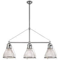 Hudson Valley 7313-PN Haverhill 3 Light 48 inch Polished Nickel Island Light Ceiling Light