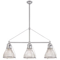 Hudson Valley 7313-SN Haverhill 3 Light 48 inch Satin Nickel Island Light Ceiling Light