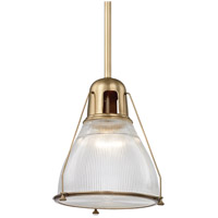 Haverhill 1 Light 17 inch Aged Brass Pendant Ceiling Light