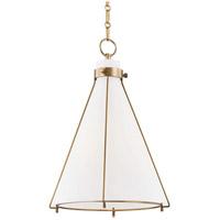Hudson Valley 7316-AGB Eldridge 1 Light 16 inch Aged Brass Pendant Ceiling Light