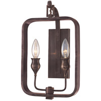 Rumsford 2 Light 9 inch Old Bronze Wall Sconce Wall Light