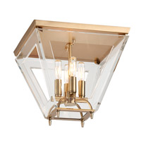 Andover 4 Light 14 inch Aged Brass Flush Mount Ceiling Light