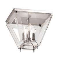 Hudson Valley Lighting Andover 4 Light Flush Mount in Polished Nickel 7414-PN