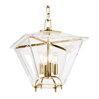 Hudson Valley Lighting Andover 4 Light Pendant in Aged Brass 7415-AGB