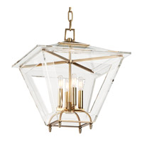 Andover 4 Light 19 inch Aged Brass Pendant Ceiling Light