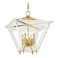 Hudson Valley Lighting Andover 8 Light Pendant in Aged Brass 7424-AGB